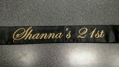 21st birthday Sash Customer Request