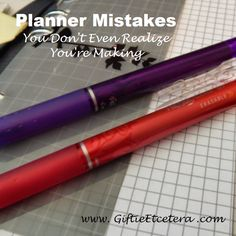 Giftie Etcetera: Oops...Planner Mistakes (And Solutions); Tips and Tricks for Using a Planner; How to Use a Planner Effectively