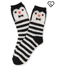 LLD Fuzzy Penguin Crew Socks - Aéropostale®