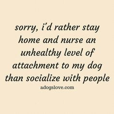 """An """"unhealthy attachment"""" to your dog? Nope, don't think so. It is healthy and being with dogs (or any pet) is better than being with people. Dog Quotes, Life Quotes, Funny Quotes, Dog Sayings, It's Funny, Qoutes, Hilarious, I Love Dogs, Puppy Love"""