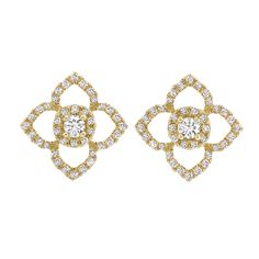 An absolutely stunning pair of all diamond Aurora stud earrings set in 18ct yellow gold. A timeless design that suits every occasion.