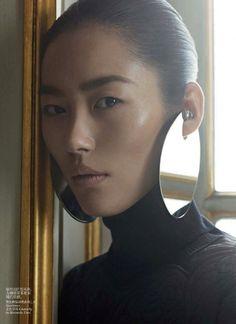 Liu Wen and Karim Sadli for Vogue China