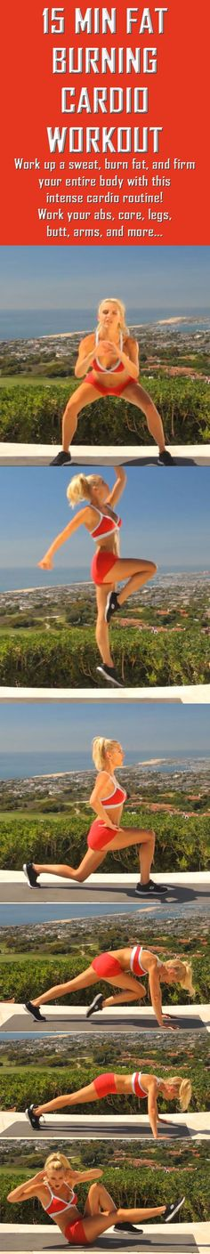 The ultimate full body cardio workout. Hit this hard if you want to test your fitness and see results! #workoutforwomen #fullbodyworkout #fatburn #burnfat #weightloss