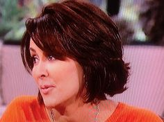 Medium Bob hairstyle - Patricia Heaton when she was on The Talk tv program. (left side)