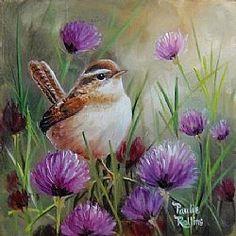 Art: Chive Talkin' by Artist Paulie Rollins by christian Pretty Birds, Beautiful Birds, Watercolor Bird, Watercolor Paintings, Bird Artwork, China Painting, Bird Illustration, Bird Drawings, Bird Pictures