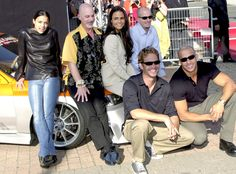 Paul Walker, Jordana Brewster, Michelle Rodriguez and Vin Diese; attend the Deauville film festival, France in September 2001.