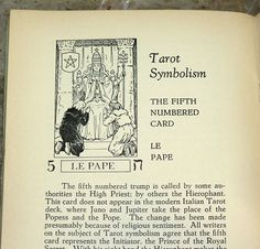 "Header illustration from an article titled ""Tarot Symbolism"". This was taken from the April 1931 issue of ""The All Seeing Eye"", a monthly booklet written by Manly Palmer Hall."