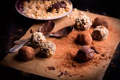 Truffles in coconut milk