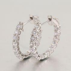 925 silver earrings, cz stone. item number: BT04042