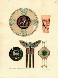Art Print 1914 Edwardian, Color In Metalry, jewellery print from Vintage Inclination (Adelaide, Australia)
