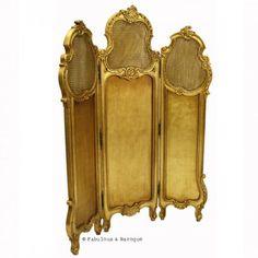 Gwenevere Dressing Screen- Gold Leaf French Ornate Modern Baroque & Rococo Furniture www.fabulousandbaroque.com