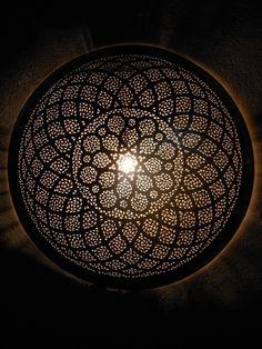 Décoration Marocaine : Appliques murales, Applique luminaire marocaine ronde en…