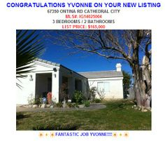 Congrats Yvonne Borden on your Cathedral City Listing!