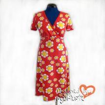 Vivienne trikoomekko (S-XL) Short Sleeve Dresses, Dresses With Sleeves, Vivienne, Wrap Dress, Products, Fashion, Moda, Sleeve Dresses, Fashion Styles