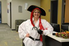 Even staff dressed up for Halloween at the Manchester University College of Pharmacy!
