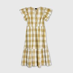 Women's Bell Short Sleeve Dress - Who What Wear™ Knitted Romper, Gingham Dress, Tiered Dress, Blouse Dress, Who What Wear, Fashion Pants, A Line Skirts, Short Sleeve Dresses, How To Wear