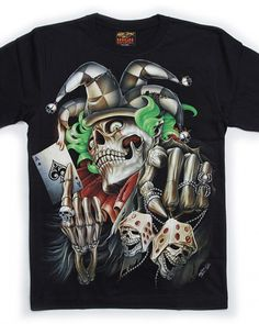 5e50ca130 3D joker poker skull t shirt glow in the dark lifes a gamble tee shirts  Shirts