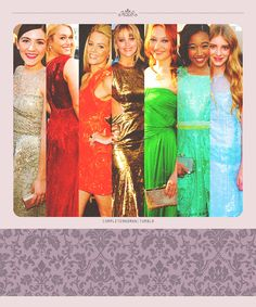 the girls of Hunger Games! Clove, Glimmer, Effie, Katniss, Foxface, Rue, and Prim.