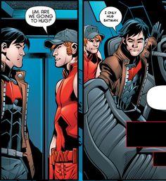 Edited RHTO #39 Roy Harper Speedy Arsenal Jason Todd Red Hood Robin DC Comics Hugs Batman Red Hood and the Outlaws Super Heroes Anti-heroes Brotp Bromance