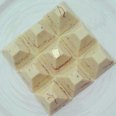 Diwali chocolates - saffron, cardamom and cashew crumb #AnyaDesserts