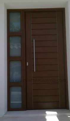 puertas exteriores madera y crital - Buscar con Google