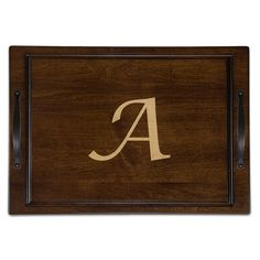 Martins Homewares Tobacco Maple Carve and Serve Board Letter: P