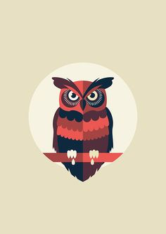 Awesome shapes used in this owl illustration. Love the way the tail interacts with the bottom of the circle. Owl Illustration, Graphic Design Illustration, Owl Vector, Vector Art, Buho Logo, Icon Design, Design Art, Flat Design, Owl Graphic