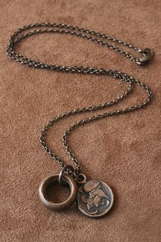 Solid Bronze Pegasus Necklace and Ancient by losttribedesigns, $73.00