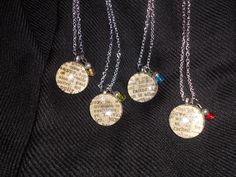 One of my favorites... Dictionary necklaces!