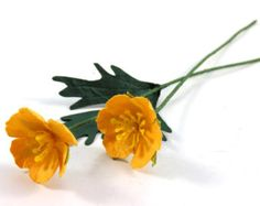 Buttercup - Ranunculus - Single Stem Handmade Paper Flower