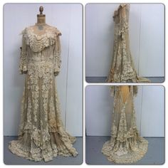 1800s Victorian Lace Wedding Gown by CreatedAndCollected on Etsy