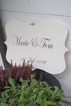 Exclusive wedding sign....www.meriland.at Handmade Wedding, Wedding Signs, Home Decor, Wedding Plaques, Decoration Home, Room Decor, Wedding Tags, Home Interior Design, Home Decoration