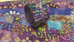 """20 2.5"""" PURPLE BATIK Jelly Roll 2.5"""" Strips PATCHWORK SALE QUILTING FABRIC"""