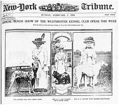 1909 New York Tribune Mrs O.A Van Hausen with Chow (may mean Van Heusen)