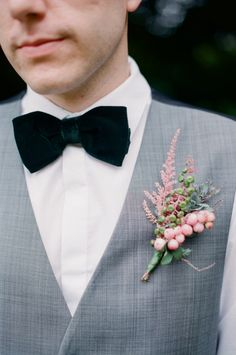 Velvet bowtie! Botanique styled shoot ~ Michelle Boyd Photography & Wedding Sparrow