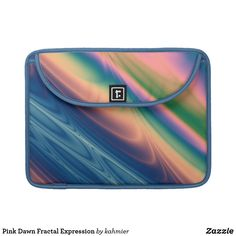 Pink Dawn Fractal Expression Sleeve For MacBook Pro