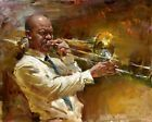 Dream-art Oil painting impressionism male portrait playing Jazz music canvas art   eBay Jazz Artists, Jazz Musicians, Arte Jazz, Art Expo, Poesia Visual, Music Painting, Artist Painting, African American Art, Dream Art