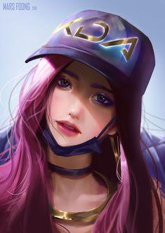 Akali League Of Legends, Lol League Of Legends, Akali Lol, Bambi, Girl Pose, Fanart, Star Art, Cool Sketches, Games For Girls