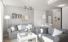 """Salon- połączenie klasyki z nowoczesnością - zdjęcie od Pracownia Aranżacji Wnętrz """"O-kreślarnia"""" - Salon - Styl Nowoczesny - Pracownia Aranżacji Wnętrz """"O-kreślarnia"""" Decor, Interior Design, Furniture, Living Room, Home, Interior, Sectional Couch, Home Decor, Room"""