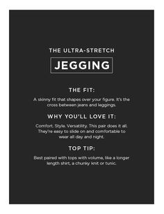 Ultra stretch jegging :- Fashionable and comfortable to wear. Skinny Fit, Jeggings, How To Wear, Skinny