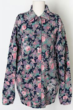 Vintage Floral Denim Jacket (2 Colors) | Fall & Winter | Dolly & Molly | www.dollymolly.com | #black #mustard #yellow #denim #winter #pants #romance #roman #aw2013 #korea #fashion #kpop