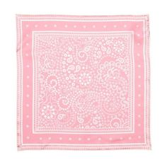 Rebecca Minkoff Bandana Silk Square Scarf ($35) ❤ liked on Polyvore featuring accessories, scarves, pink, pink handkerchief, bandana scarves, silk handkerchief, pink silk scarves and square scarves
