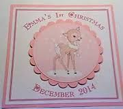 Image result for handmade baby first christmas cards