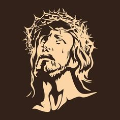 Illustration of Face of the Lord Jesus Christ vector art, clipart and stock vectors. Jesus Drawings, Dark Drawings, Christ Tattoo, Jesus Tattoo, Graffiti Wallpaper, Face Images, Human Figure Drawing, Jesus Face, Unicorn Art