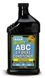 12 FPPF ABC Air Brake Conditioner #90157  (12) 32 oz. ABS Air Brake Cleaner. Protects all air brake systems and helps prevent freeze-ups. There are no ingredients or residues to corrode brake line systems. ABC contains pure methanol. 32 Ounces. SKU: 777KIT338.  http://www.newmotorcyclestore.com/12-fppf-abc-air-brake-conditioner-90157-2/