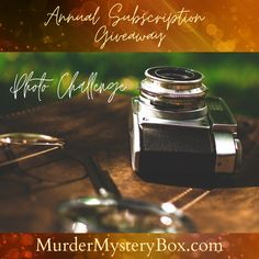 Show off those detective skills for your chance to win Murder Mystery Boxes for the year! Simply snap a photo while solving our Murder Mystery Box and send it our way. We'll choose a winner to receive a free Annual Subscription to Murder Mystery Box. Mystery Box, Reading Books, Happenings, Detective, Giveaway, Crime, Boxes, Shit Happens, Adventure