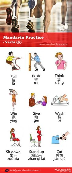 Verbs in Chinese.For more information please contact sophia.zhang@mandarinhouse.cn The best  Mandarin School in China.