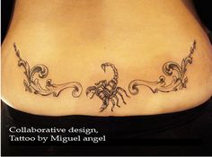 scorpion lower back tattoo Tattoo by Miguel angel of ouch tattoo.