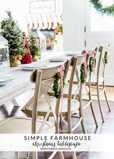 Simple Farmhouse Christmas Tablescape | simplykierste.com #farmhouseChristmas #Christmastablescape #Christmasdecor #ad #bhgcelebrate
