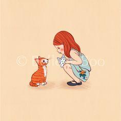 הדפס אומנותי: Kitty | Belle & Boo Israel | מרמלדה מרקט